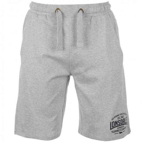 Lonsdale Herren Sweat Shorts 632244 Grey Marl