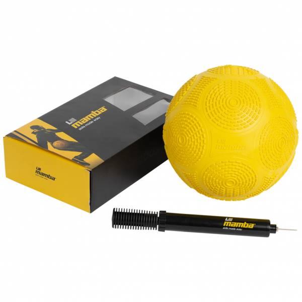 Mamba Balón de fútbol freestyle con inflador amarillo