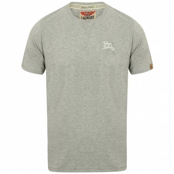 Tokyo Laundry Hemsby V Insert Crew Neck Men's T-Shirt 1C10017 Light Gray