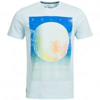 Sth. Shore Diskpalm Herren T-Shirt 1C9188 Pastel Blue
