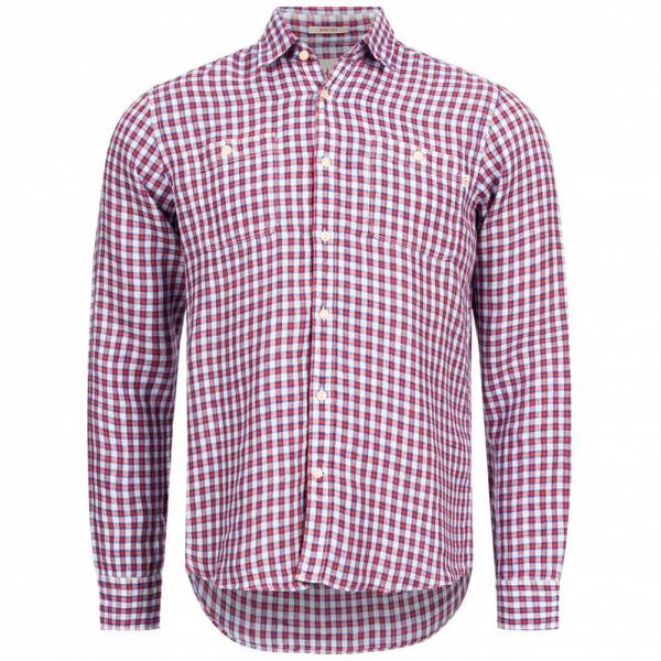 Hackett London HKT Co/Linen Preppy Check Herren Hemd HM307542-2AW