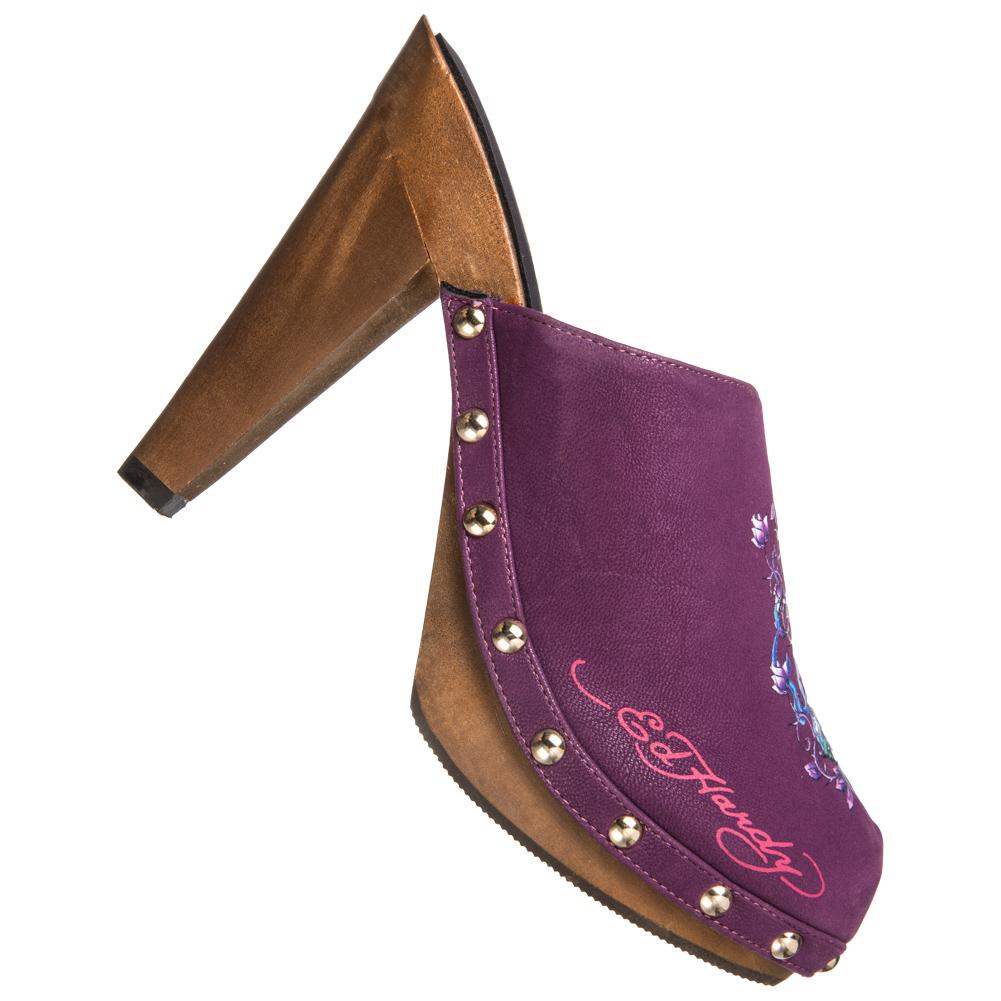 Ed Hardy Portland Heel Damen Schuhe Purple
