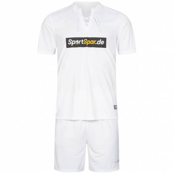 Zeus x Sportspar.de Legend Fußball Set Trikot mit Shorts weiß