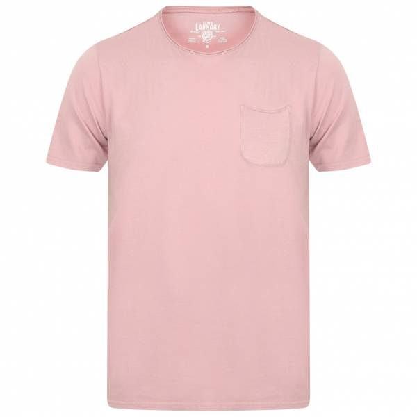 Tokyo Laundry Zac Crew Neck Pocket T-shirt Homme 1C10666B Rose Clair