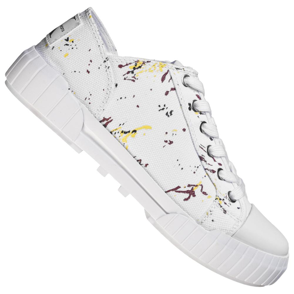 Calvin Klein Jeans Bianca Damen Canvas Sneaker RE9761WHT