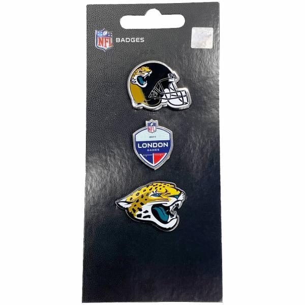Jaguars de Jacksonville NFL Pins métalliques Ensemble de 3 BDNF3HELJJ