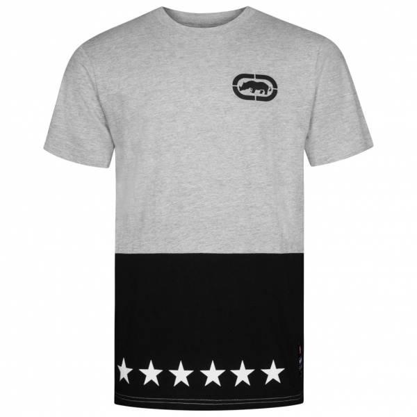Ecko Unltd. Star Contrast Tee Herren T-Shirt ESK4375 Grey Marl