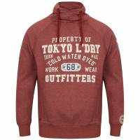 Tokyo Laundry Maplewood Funnel Neck Hoodie Men's Pullover 1D9596 Oxblood