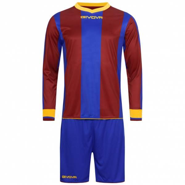 Givova Kit Line Fußball Set Langarm Trikot + Short KITC27-0208