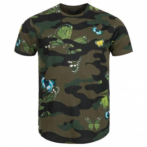 BRAVE SOUL Canopus Tee-shirt ras du cou Camo pour homme MTS-149CANOPUSB Kaki