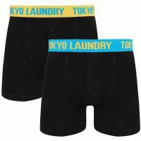 Tokyo Laundry Helston 2er Pack Herren Boxershorts 1P9501 yellow-blue