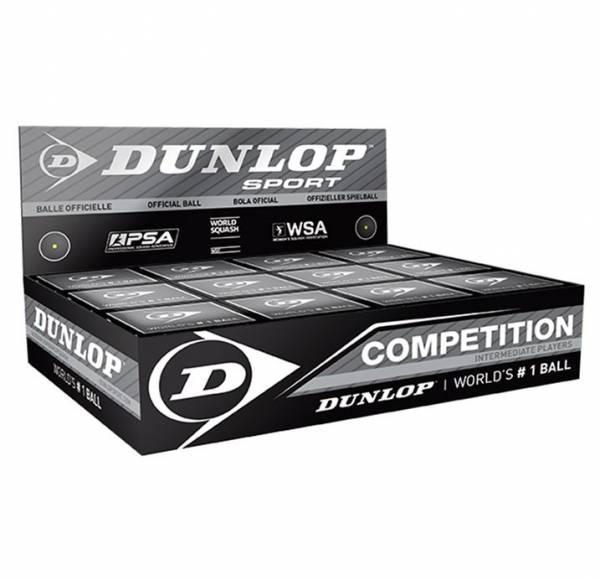 Dunlop COMPETITION Squash Bälle 12er Box