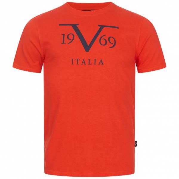 19V69 Versace 1969 Big Logo Stampato Herren T-Shirt VI20SS0011A rot