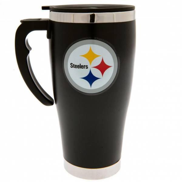 Tasse de voyage de voyage d'impression de feuille NFL de Steelers de Pittsburgh Steelers MGNFLTRAVPS