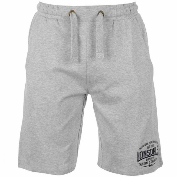 Lonsdale Herren Sweat Shorts 632244 Grey Marl