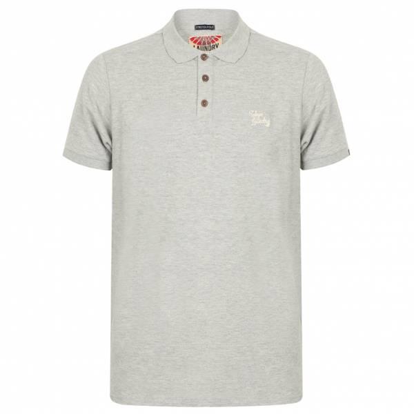 Tokyo Laundry Roseville Cotton Pique Herren Polo-Shirt 1X10922 Light Grey