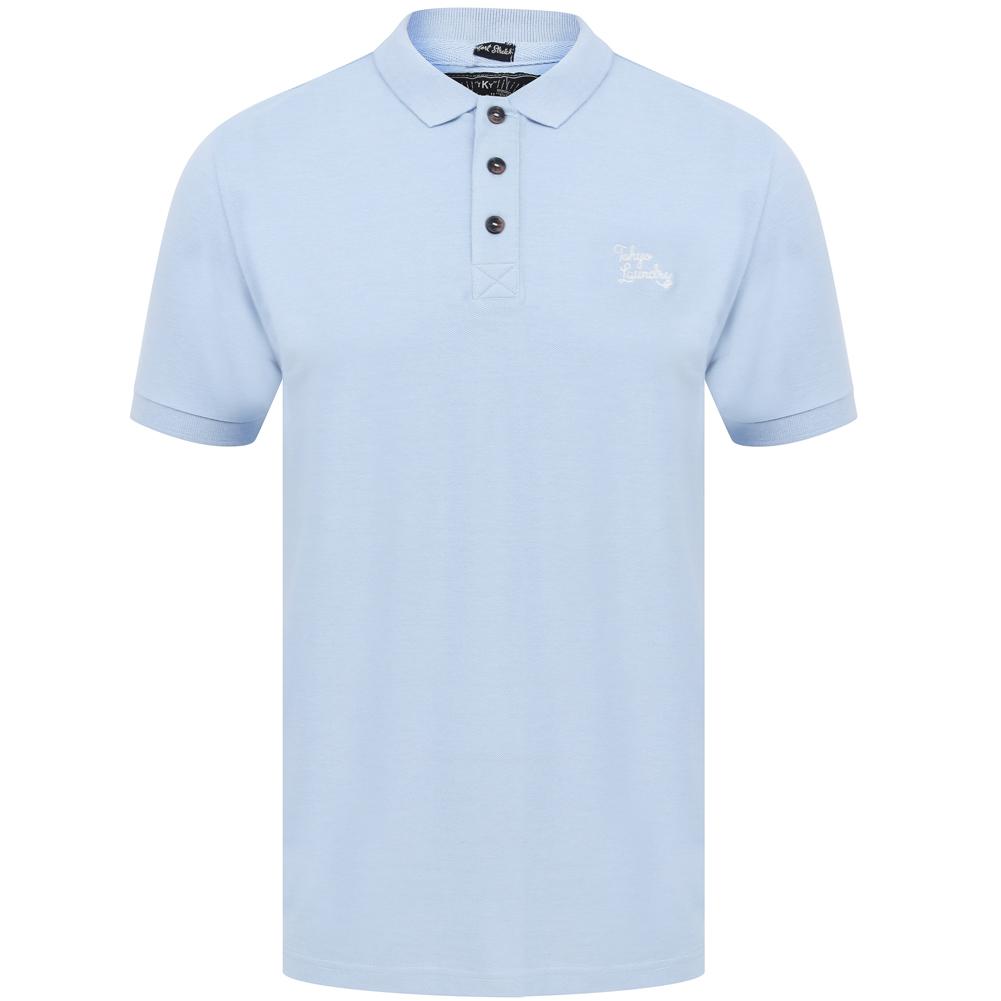 Tokyo Laundry Marahau Herren Poloshirt 1X12840 Kentucky Blue Marl