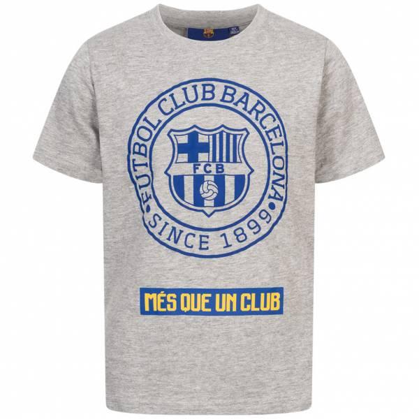 FC Barcelona Emblem Kinder T-Shirt Grey FCB-2-026