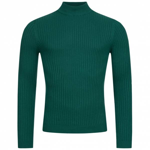 BRAVE SOUL Mutant Men Turtleneck Jumper MK-230MUTANTC BOTTLE GREEN