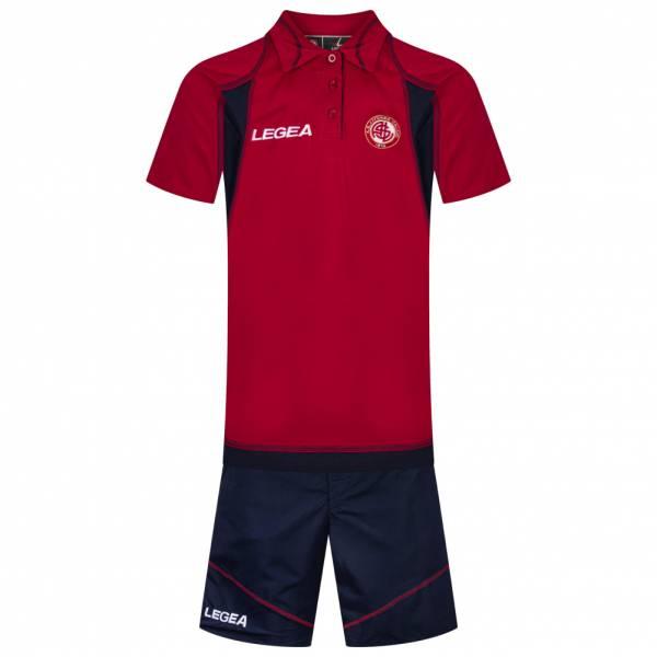 AS Livorno Calcio Legea Uomo Kit da presentazione 2 pezzi 3-AH-4830 Rosso