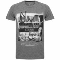 DNM Dissident Stations Men T-shirt 1C12386 Mid Gray Marl