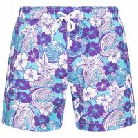 HENLEYS Tubbataha Flower Herren Badeshorts HTG00837 Purple