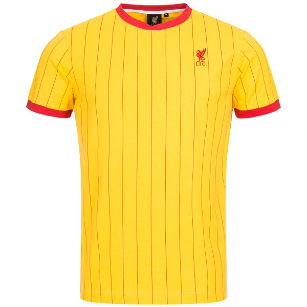Liverpool FC Majestic Retro Trikot Pinestriped Jersey gelb