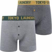 Tokyo Laundry Mursell 2er-Pack Herren Boxershorts 1P13376 Dark Green