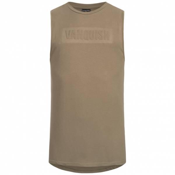 Vanquish Herren Fitness Panel Tank Top Shirt Brindle VA-TBR