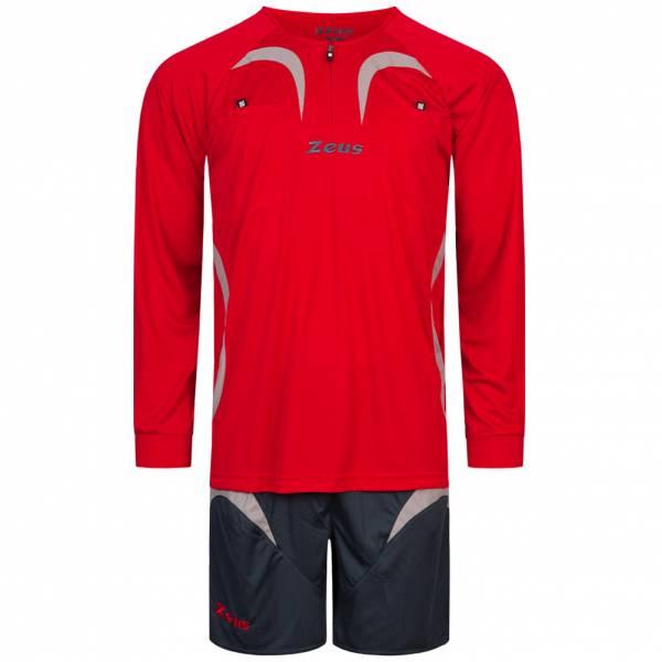 Zeus Uomo Arbitro Set Maglietta con pantaloncini Rosso