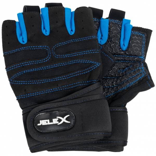 JELEX Fit gepolsterte Trainingshandschuhe schwarz-blau