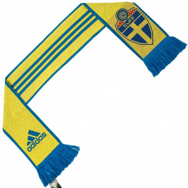 Svezia SVFF adidas 3 Stripes Scarf Sciarpa per tifosi AY4382