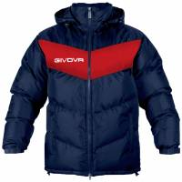 Givova winter jacket Giubbotto Podio navy / red