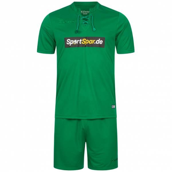 Zeus x Sportspar.de Legend Fußball Set Trikot mit Shorts grün