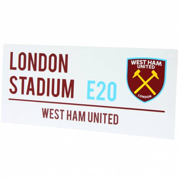 West Ham United FC Fan Street Sign Targa stradale WDEPLSSWHM
