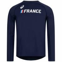 Frankreich ASICS Leichtathletik Herren Langarm Oberteil A17A40-52FR