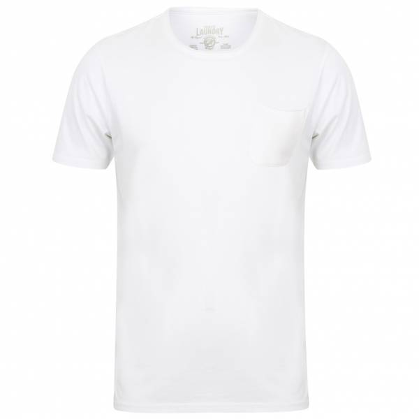 Tokyo Laundry Zella Cotton Pocket Hommes T-shirt 1C10284 Optic Blanc