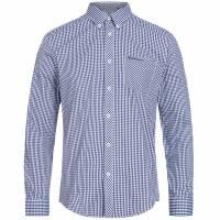 BEN SHERMAN Hombre Camisa de manga larga 0062082-150 Azul
