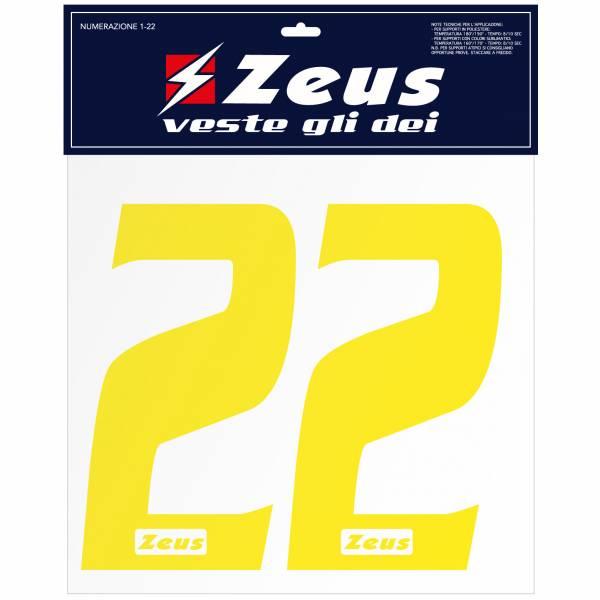 Zeus Strijknummer set 1-22 25 cm senior geel