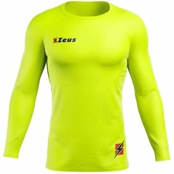 Zeus Fisiko Camiseta interior Camiseta funcional de manga larga amarillo neón