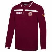 AS Livorno Calcio Legea Herren Langarm Polo-Shirt dunkelrot