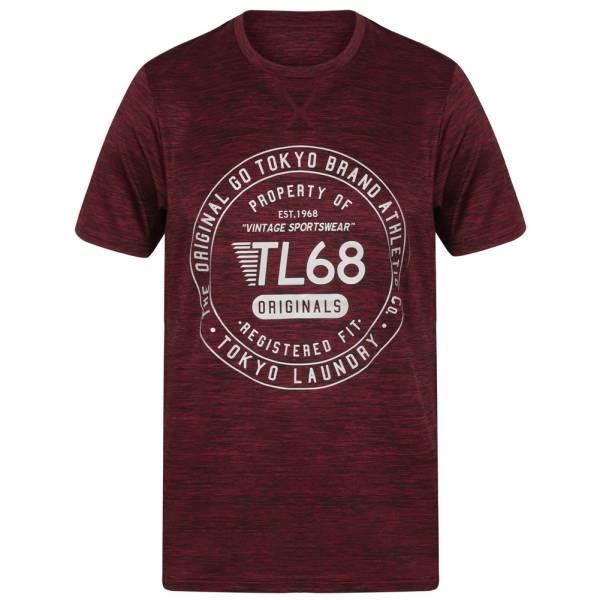 Tokyo Laundry Fitchburg Reflective Motif Herren T-Shirt 1C10829 Windsor Wine