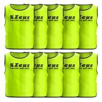 Zeus 10er-Pack Trainingsleibchen Neon Gelb