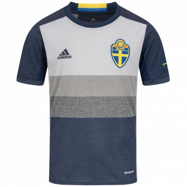 Schweden adidas Kinder Auswärts Trikot AA0457