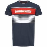 Lambretta Panel Stripe Herren T-Shirt SS7102-NAVY