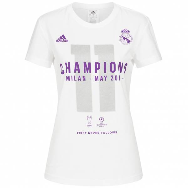 Real Madrid adidas Damen UCL Winner Tee BR0145