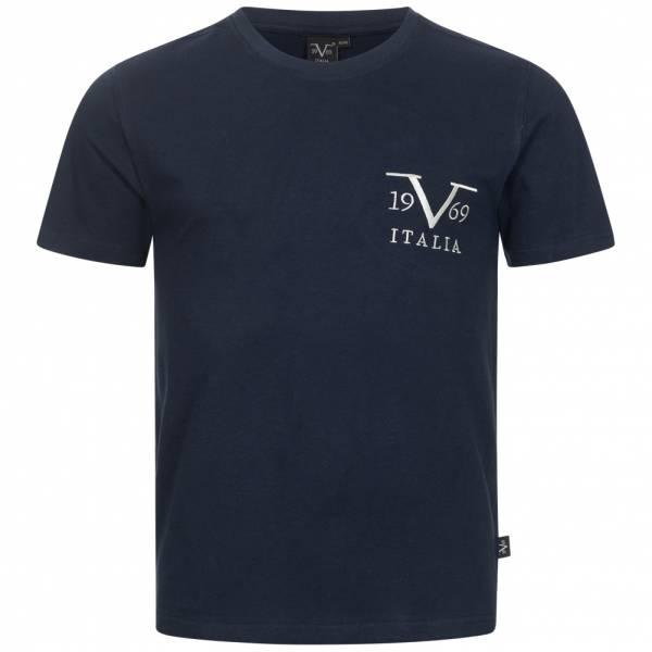 19V69 Versace 1969 Basic Big Logo Herren T-Shirt VI20SS0008A navy