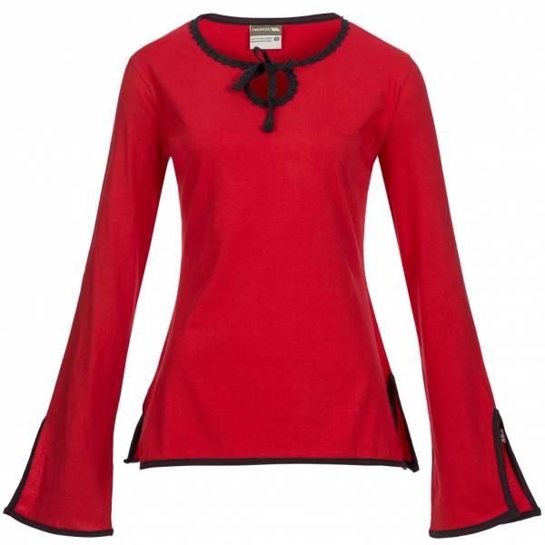 TRESPASS Iodine Damen Langarm Shirt rot