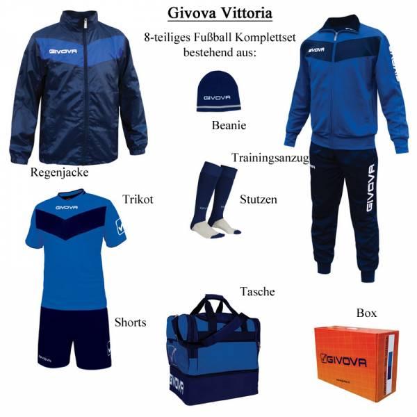 Givova Box Vittoria Fußball Set 8-tlg. blau/navy