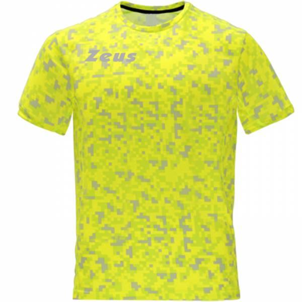 Zeus Pixel Herren Fitness Trikot neon gelb